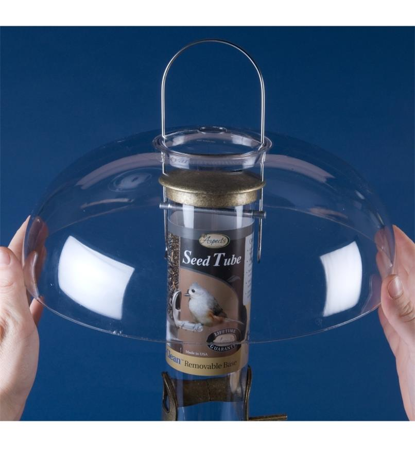 AG318 - Weather Dome & Seed Tray Set for Small and Medium Quick-Clean Tube Feeders