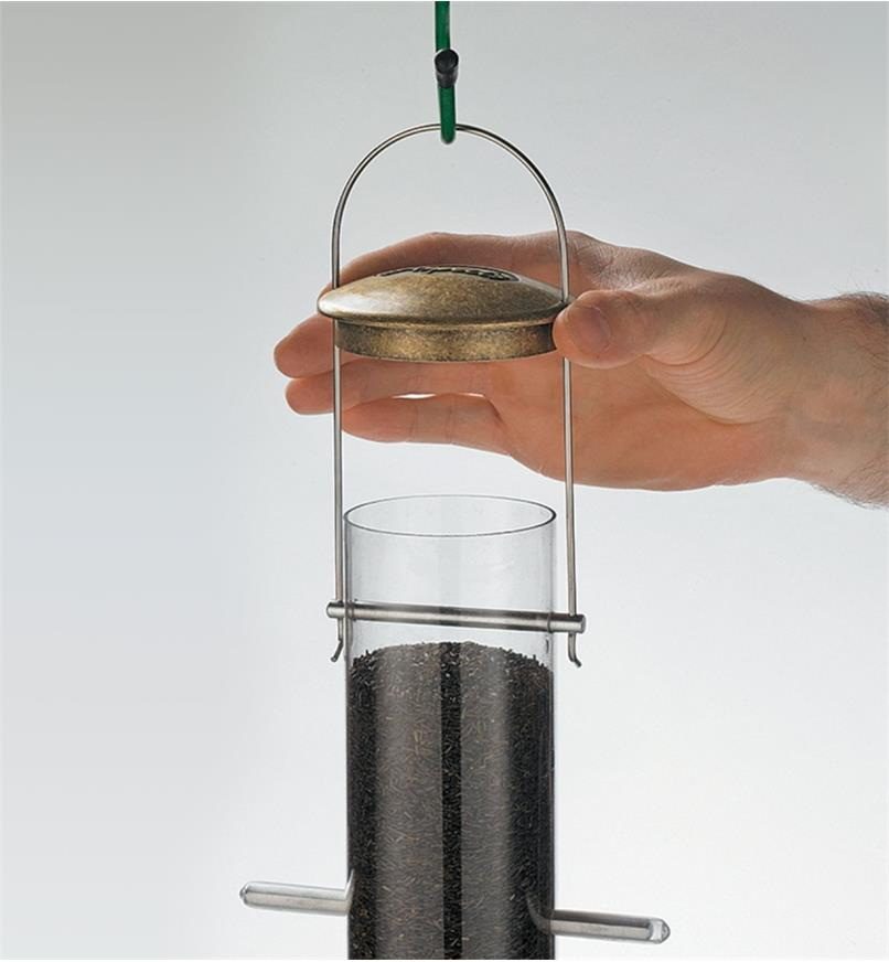 AG319 - Small 8-Port Quick-Clean Tube Finch Feeder, 1 1/4 qt.