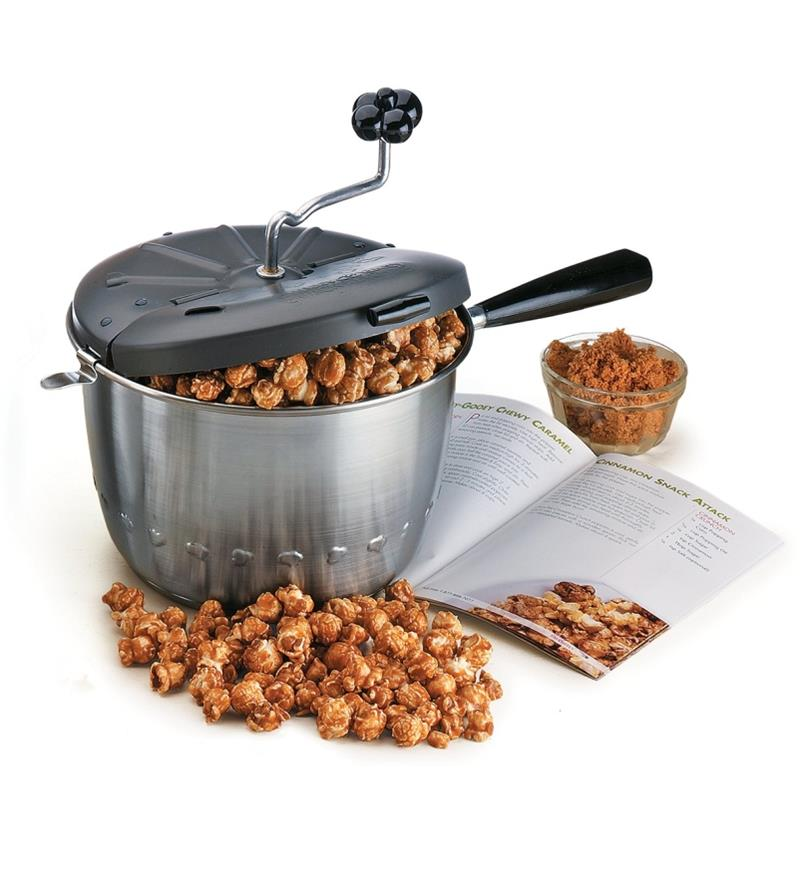 Sweet & Easy Snack Maker with caramel corn spilling out