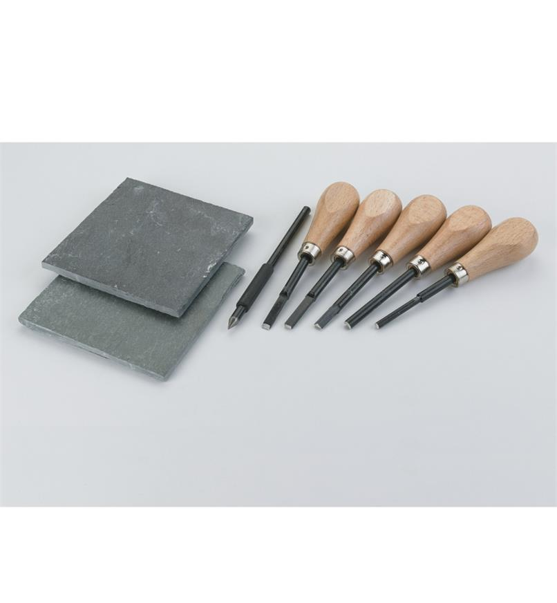 09A0589 - Adults' Slate Engraving Tool Set
