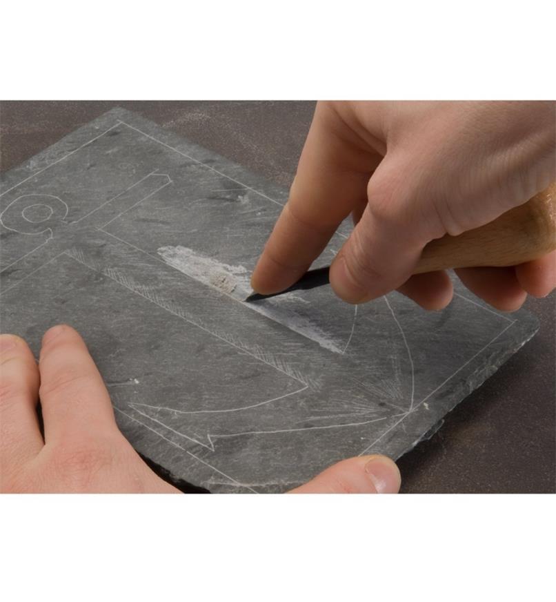 Jeux d'outils pour gravure sur ardoise