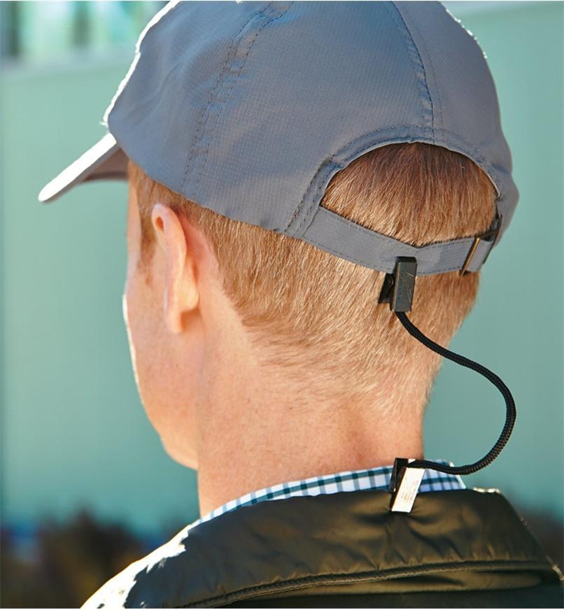ES196 - Cordon pour casquette, noir