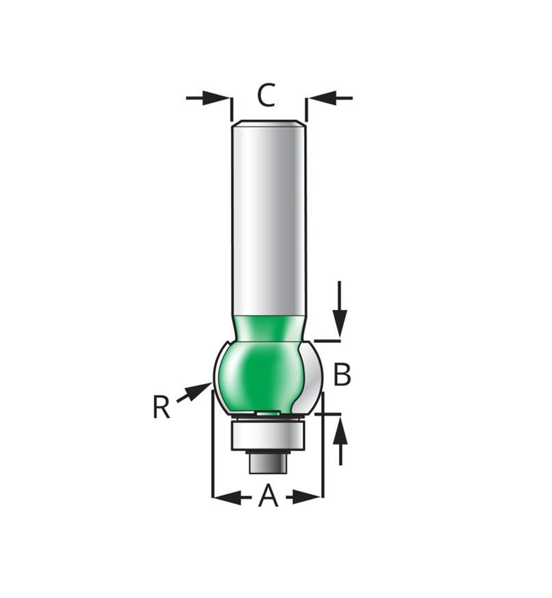 Internal Bullnose Bits – Half Radius