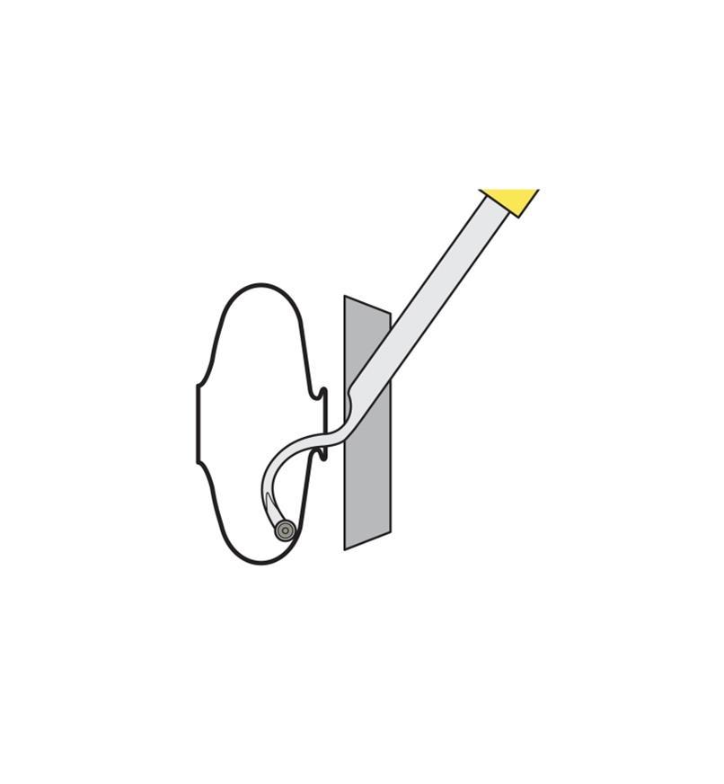 "36B0143 - #3 Acute Curve Mid-Size Easy Hollower (20 7/8"")"