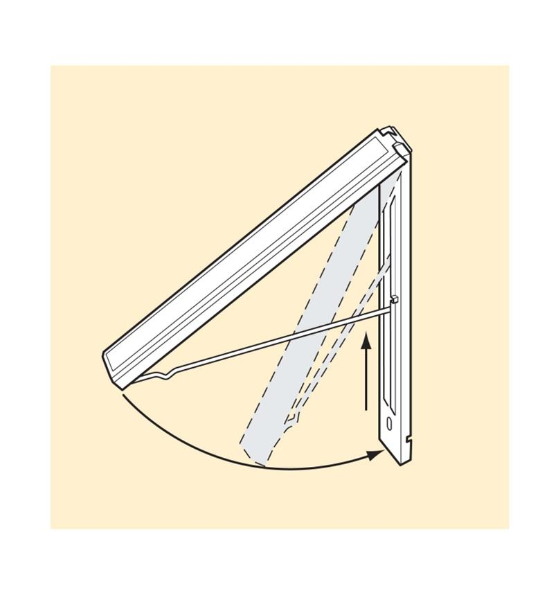 Diagram shows how the racks fold out and fold flat