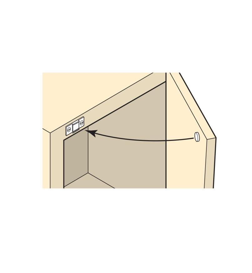00S3360 - Clou annelé de 12 mm, fini nickelé