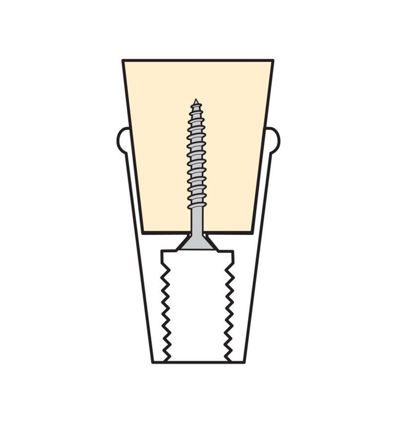 Embout en laiton Veritas pour canne ou bâton de 13/4pox1po, l'unité