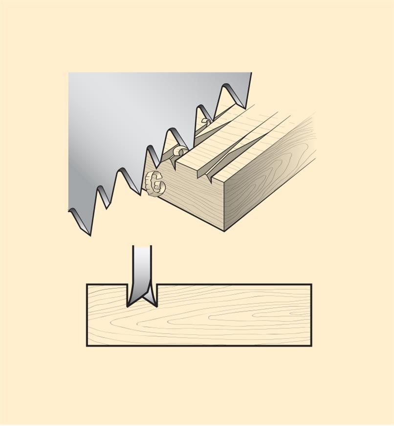 05T0701 - Scie à bâti à tronçonner, 14TPI