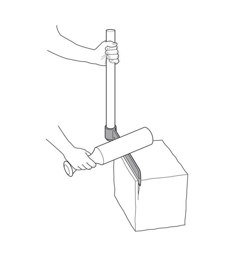 Illustration of a person using a froe and mallet to split a block of wood