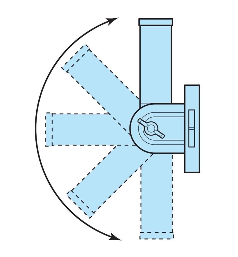Spinning Flagpole & Adjustable Bracket