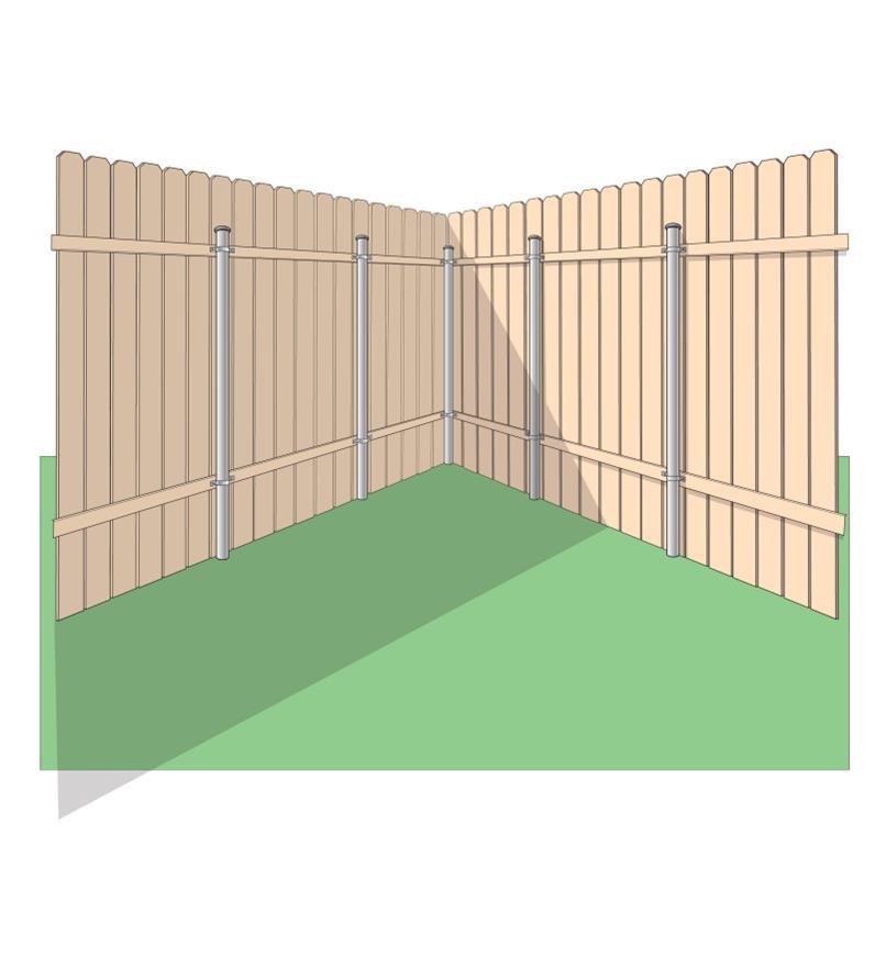 Éléments de fixation pour clôture bois-métal Ozco