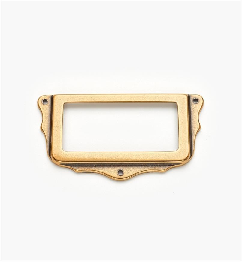 01A5762 - Porte-étiquette, bronze bruni, 75 mm x 40 mm