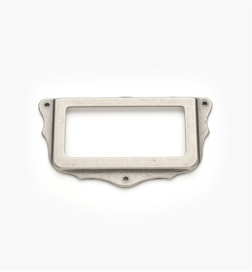 01A5764 - Porte-étiquette, étain, 75 mm x 40 mm