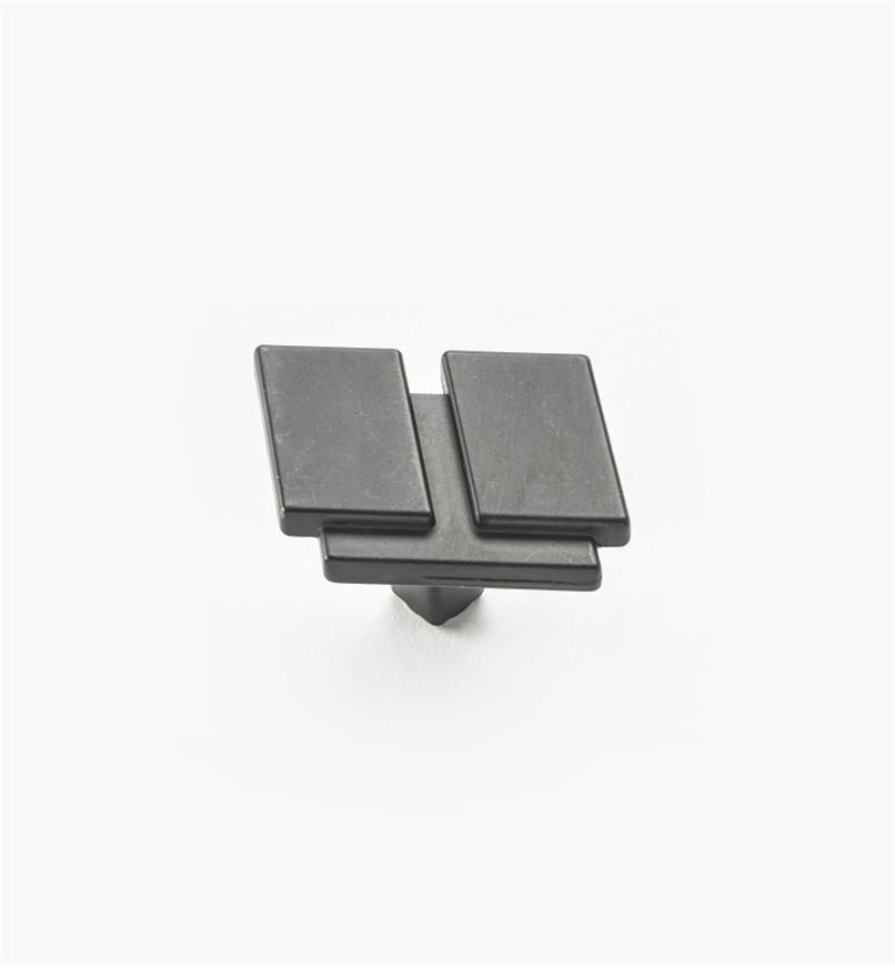"01W4933 - 1 7/16"" Black Iron Knob"