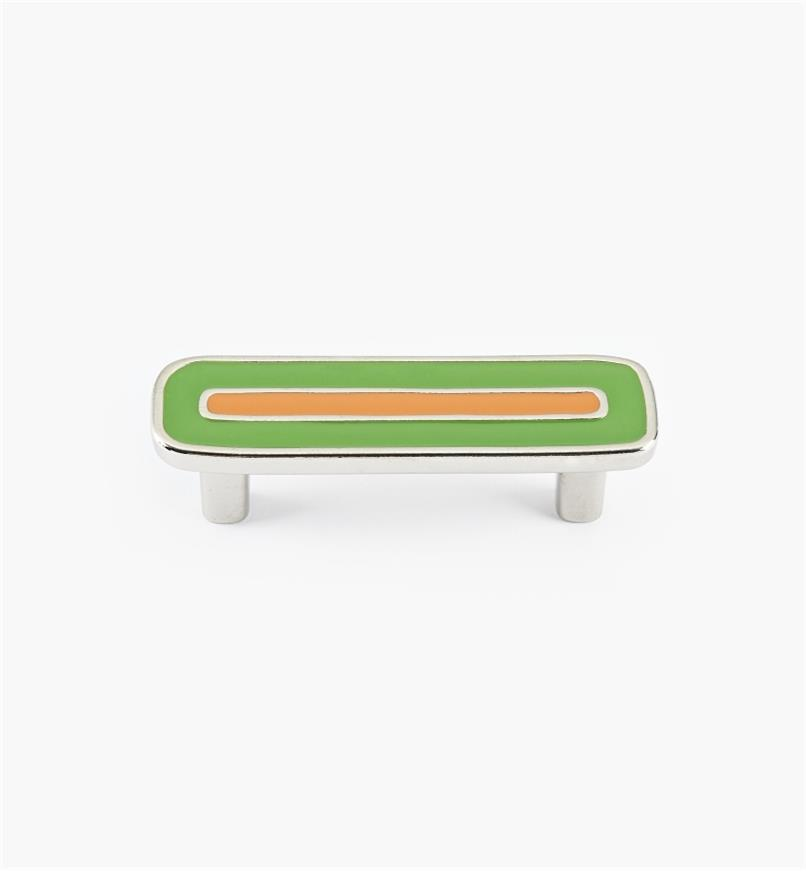 01X4342 - Enamel Infill 64mm x 90mm Small Green/Orange Handle
