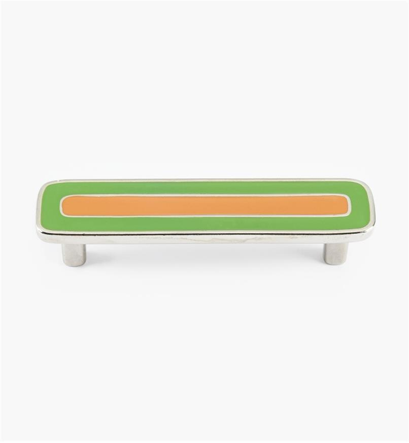 01X4343 - Enamel Infill 96mm x 122mm Large Green/Orange Handle