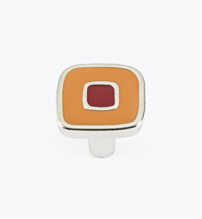 01X4350 - Enamel Infill 30mm Small Orange/Red Knob