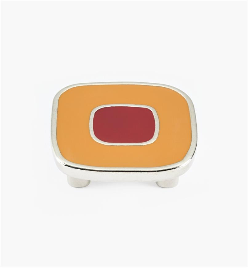 01X4351 - Enamel Infill 32mm x 52mm Large Orange/Red Knob