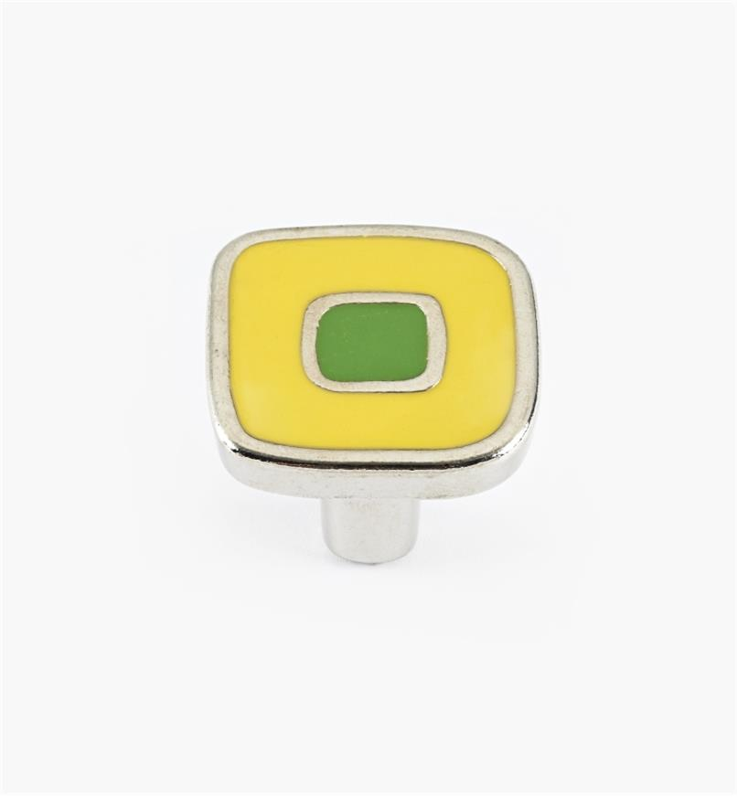 01X4360 - Enamel Infill 30mm Small Yellow/Green Knob