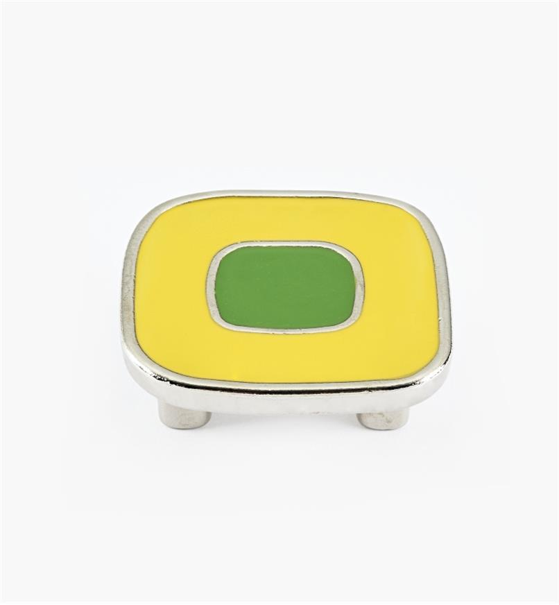 01X4361 - Enamel Infill 32mm x 52mm Large Yellow/Green Knob