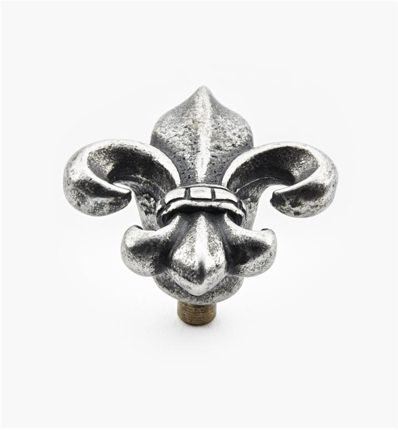 Cast Pewter Fleur-de-lis Knobs