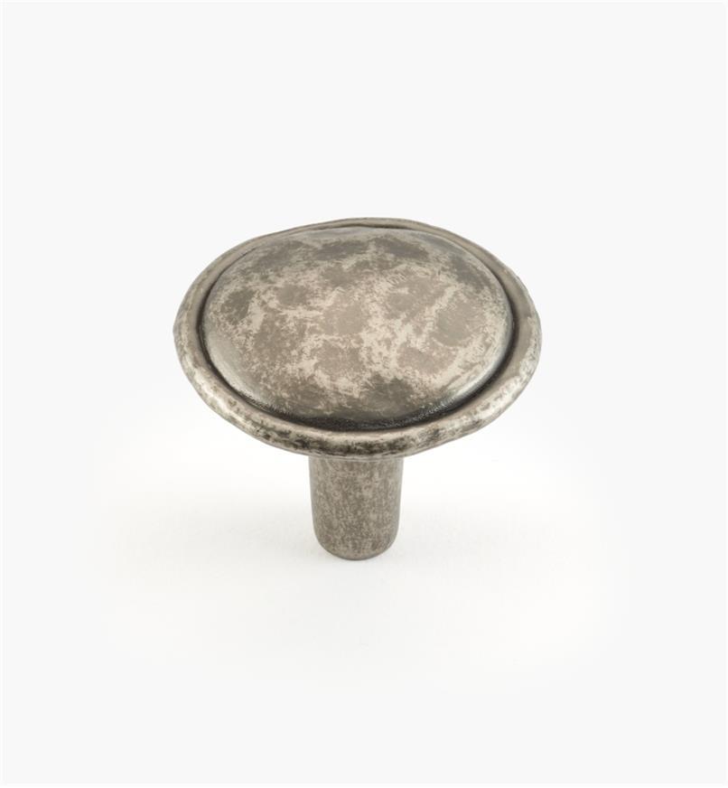 01W4905 - Bouton de 1 3/8 po, série Merlot, étain antique