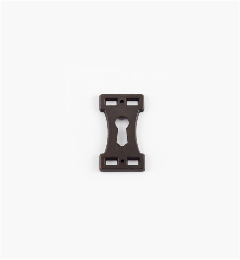 01A2845 - Dark Bronze Keyhole Escutcheon, Arts and Crafts
