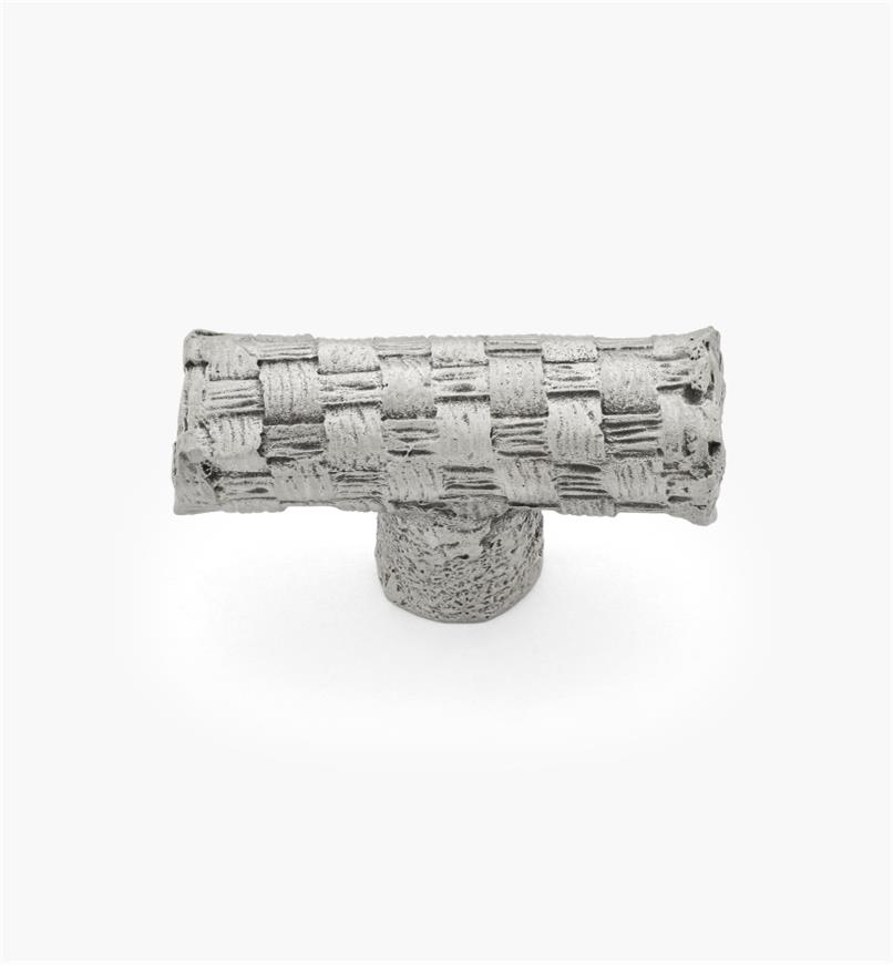 01W3961 - 38mm × 14mm Pewter Basket Weave Knob