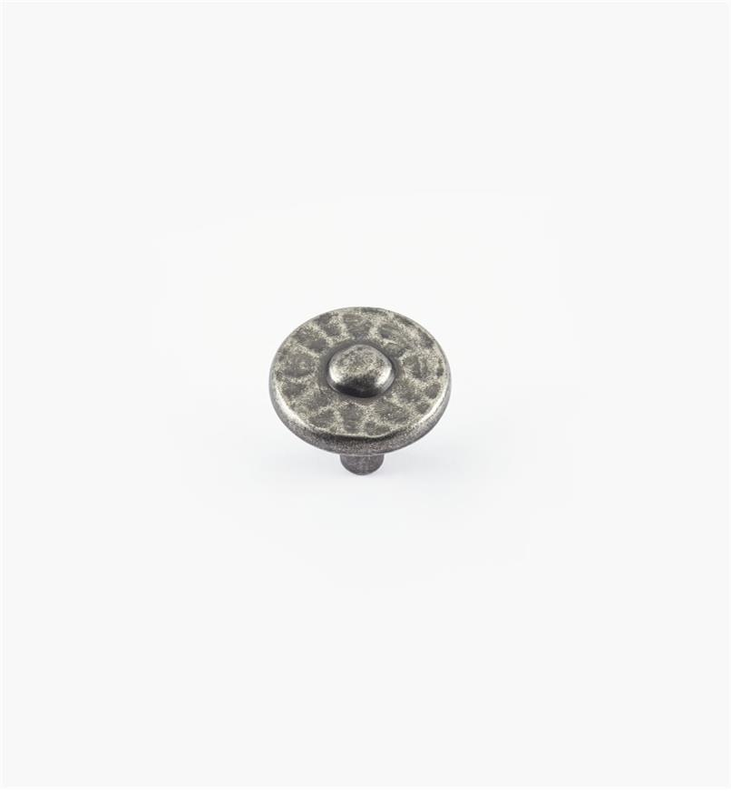 "01W4911 - 1 3/8"" Nevada Antique Pewter Knob"