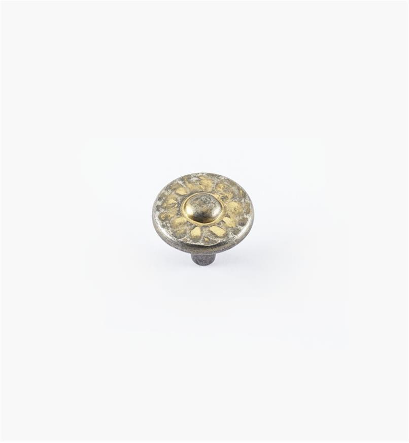 """01W4913 - 1 3/8"""" Nevada Antique Pewter w/Bronze Wash Knob"""