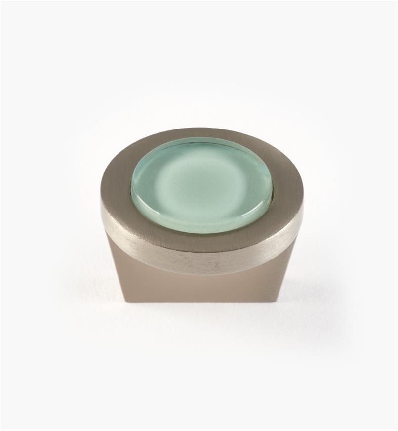 """01W5131 - 1 1/4"""" Round Knob, Aqua"""