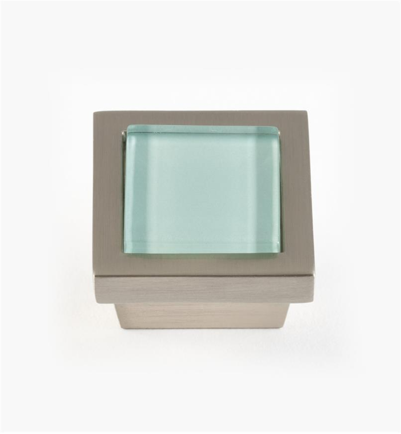 "01W5132 - 1 3/8"" Square Knob, Aqua"