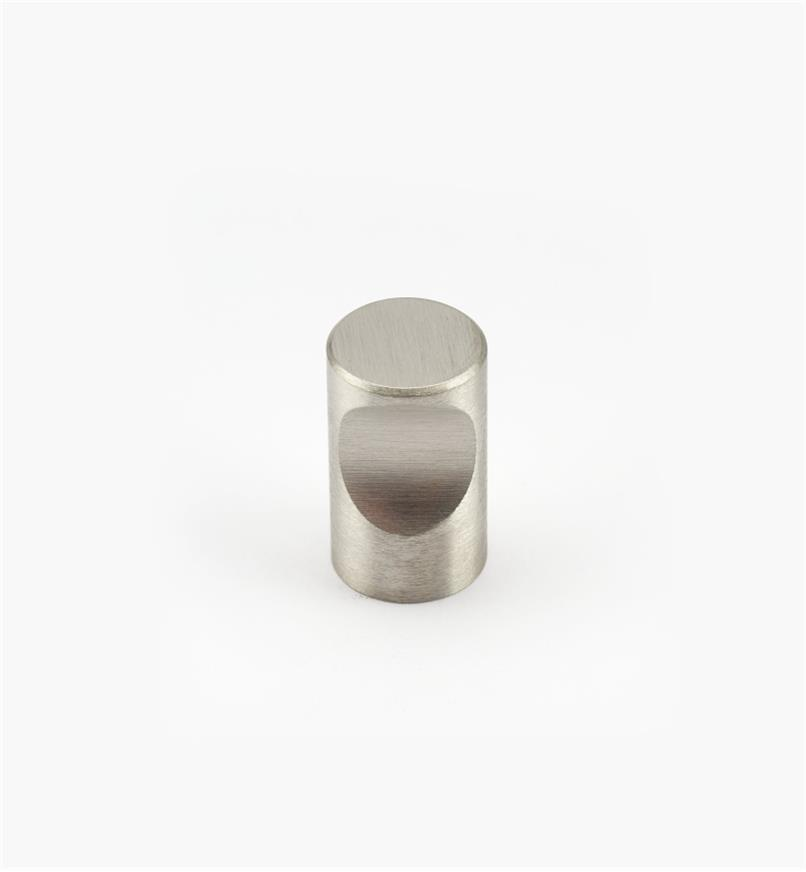 01W6512 - Bouton à encoche en acier inoxydable, fini brossé, 12mmx20 mm