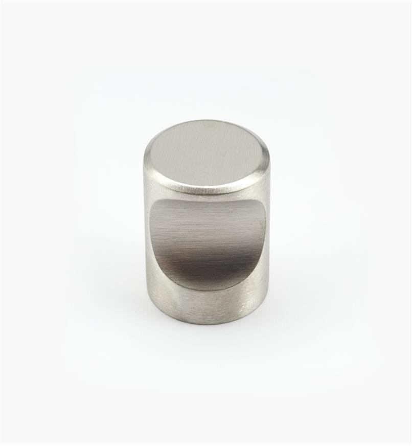 01W6518 - Bouton à encoche en acier inoxydable, fini brossé, 18 mm x 24 mm