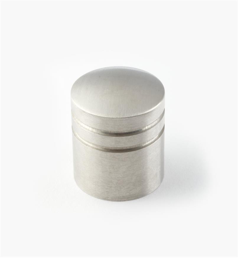01W6952 - Bouton rainuré en acier inoxydable, 25 mm x 30 mm