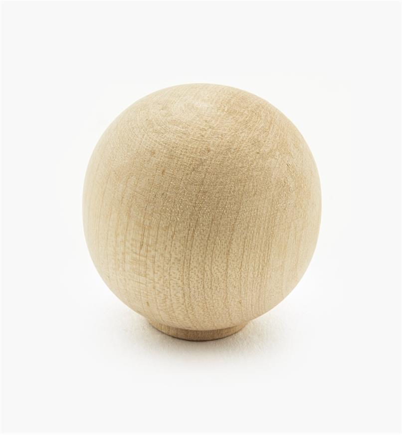 "02G1417 - 1 3/16"" x 1 1/4"" Maple Ball Knob"