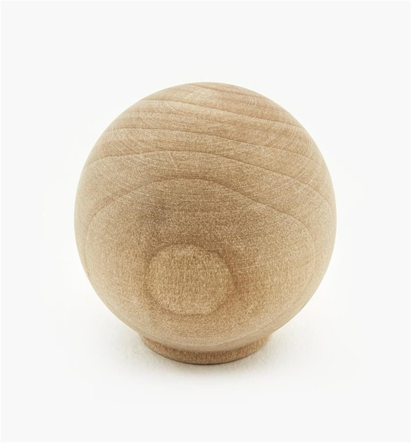 "02G1418 - 1 3/8"" x 1 3/8"" Maple Ball Knob"