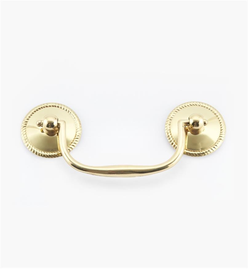"00W6301 - 3"" Polished Brass Rope Handle"