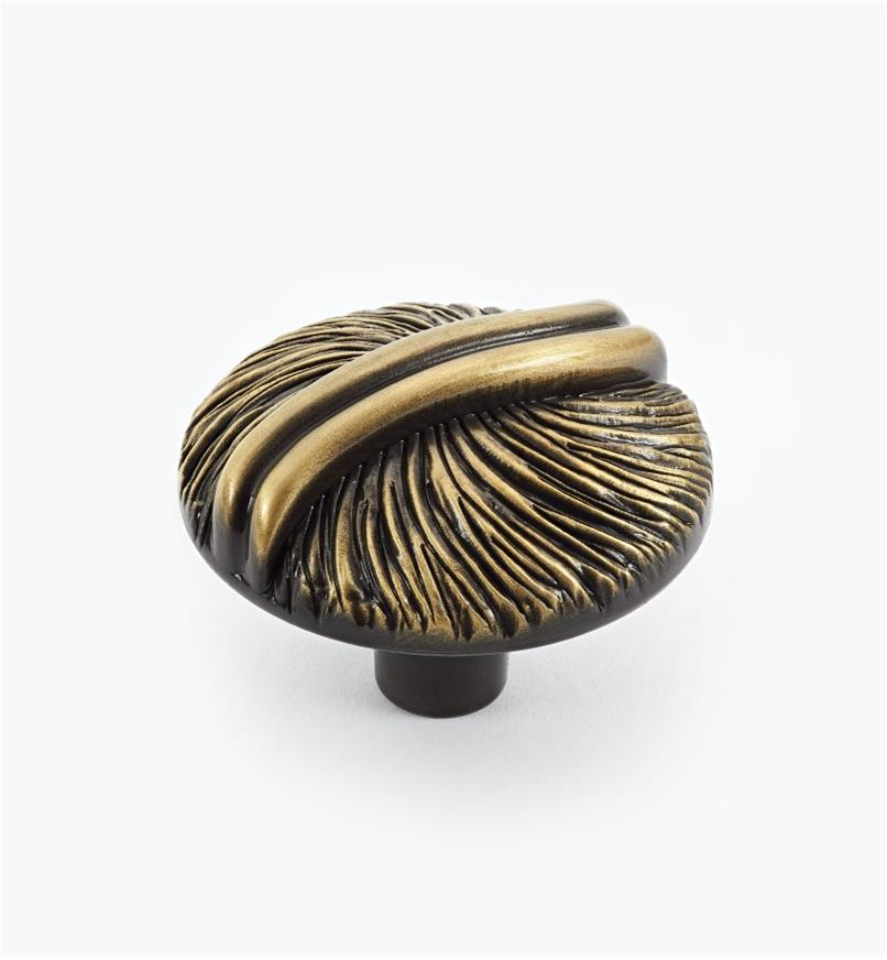 02A4401 - Textured Antique Brass Round Knob