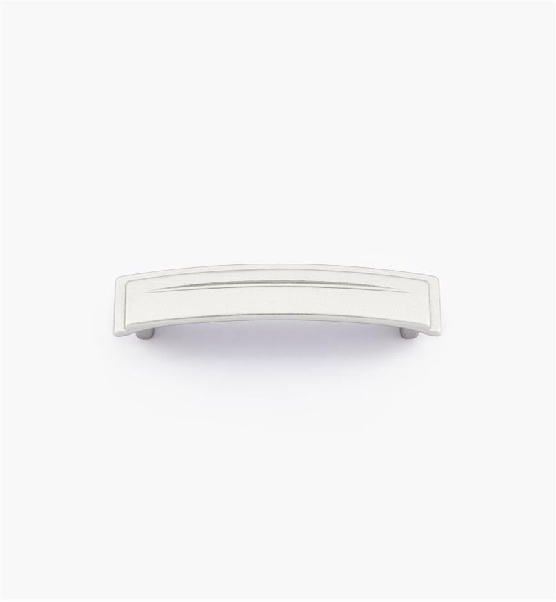01A2022 - Poignée de 96 mm, série Art déco, fini argent satiné