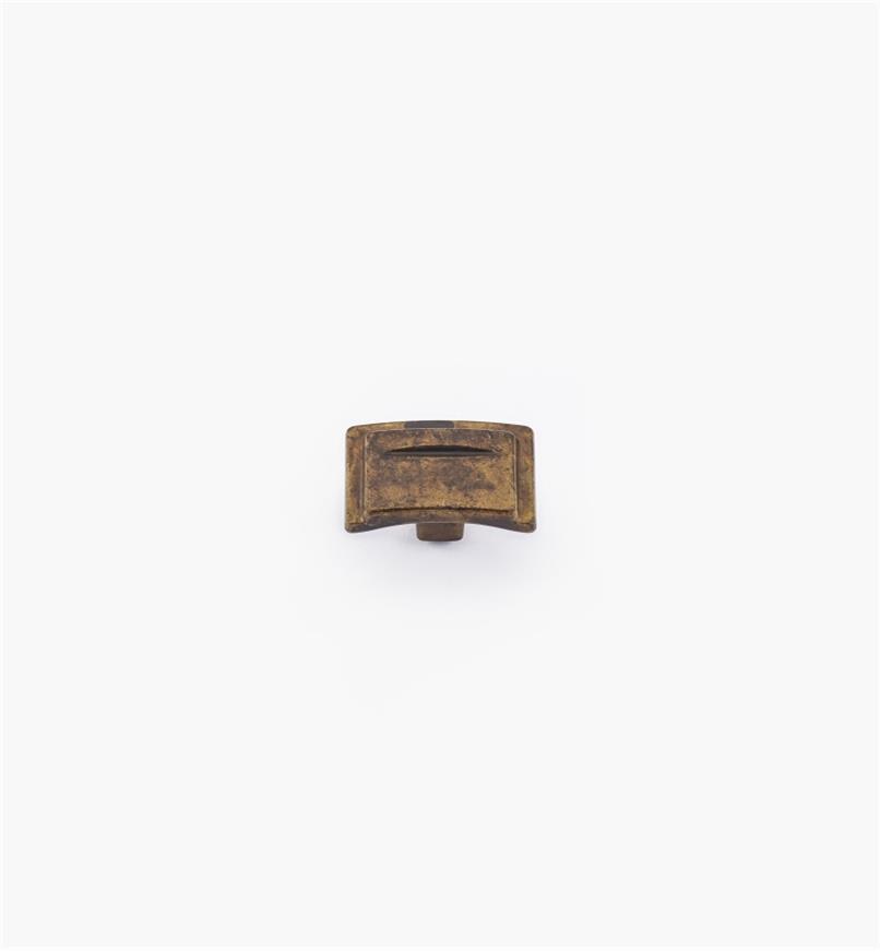 01A2450 - Bouton de 1 1/2 po, série Art déco, fini laiton ancien