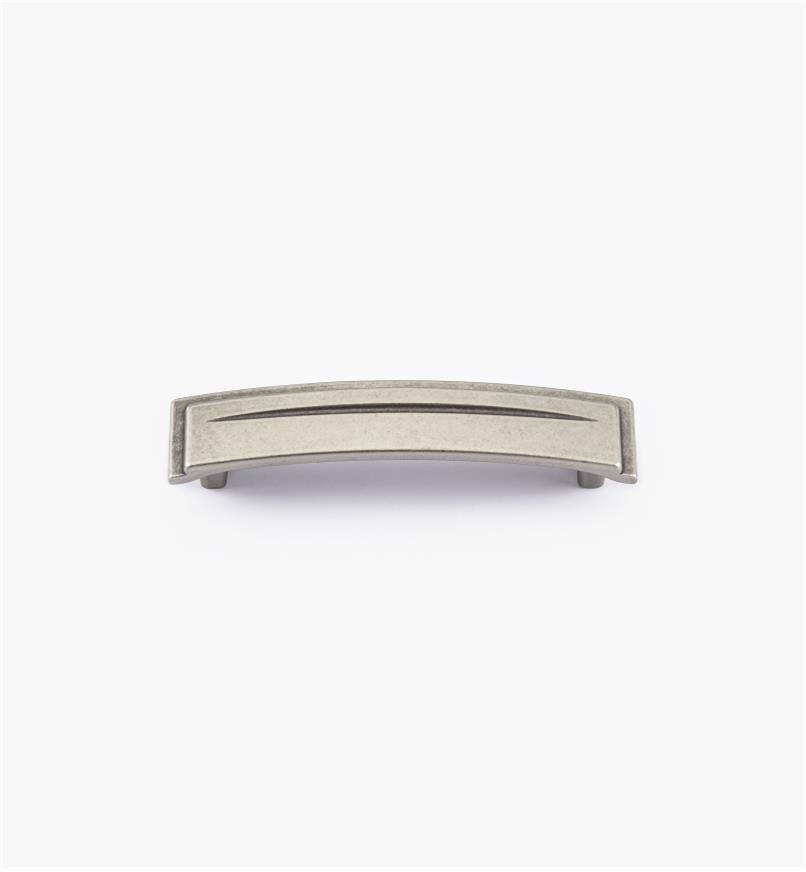 01A2471 - Poignée de 96mm, série Art déco, fini étain
