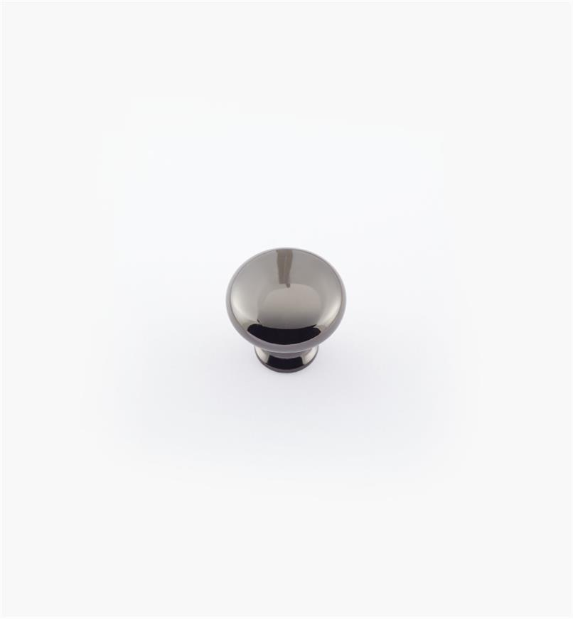 "02A2412 - 1 1/8"" x 1"" Black Nickel Anniversary Knob"