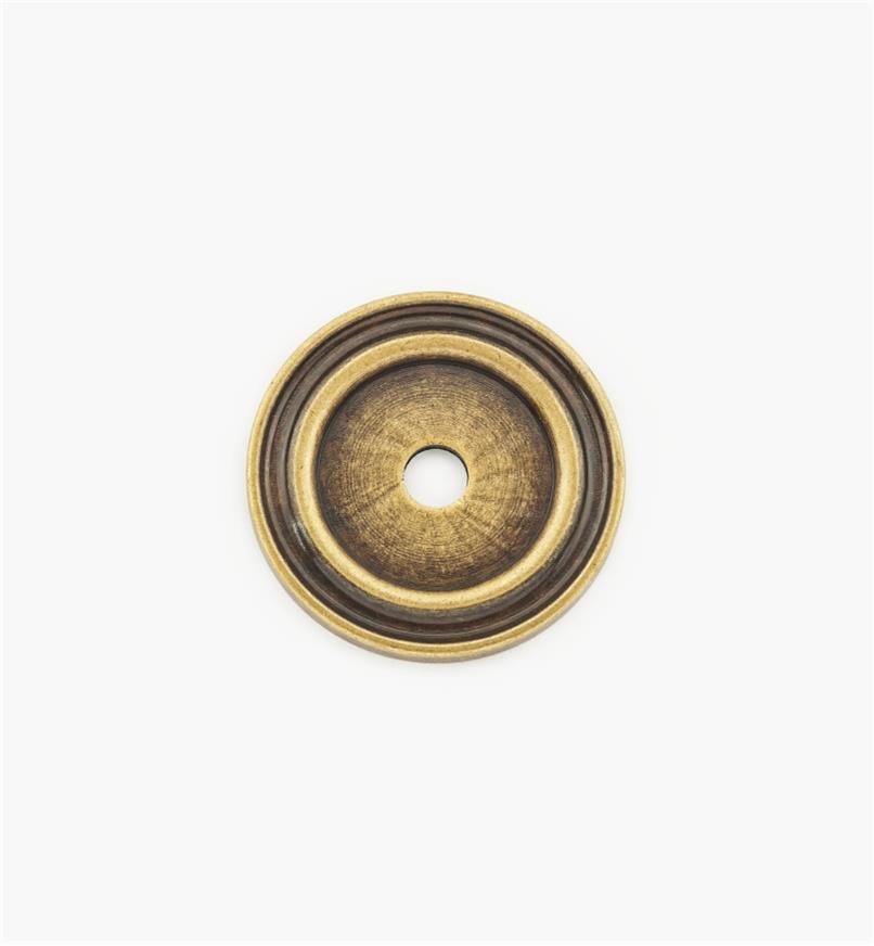 01A0725 - 25mm Antique Brass Knob Escutcheon