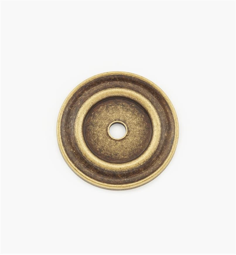 01A0730 - 30mm Antique Brass Knob Escutcheon