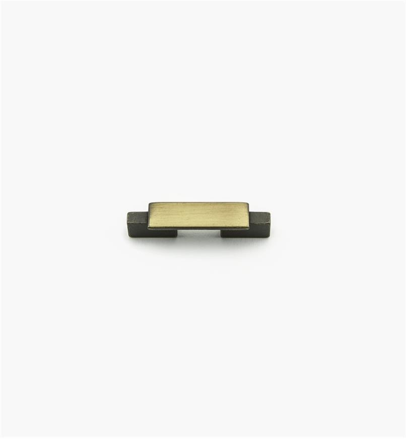 01G1852 - Bridge Hardware - 32mm x 68mm Brushed Antique Brass Handle