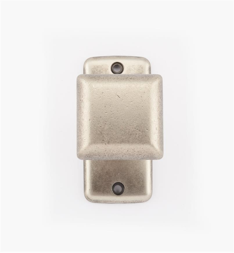 01X4014 - Pewter Sq. Knob w/ Backplate