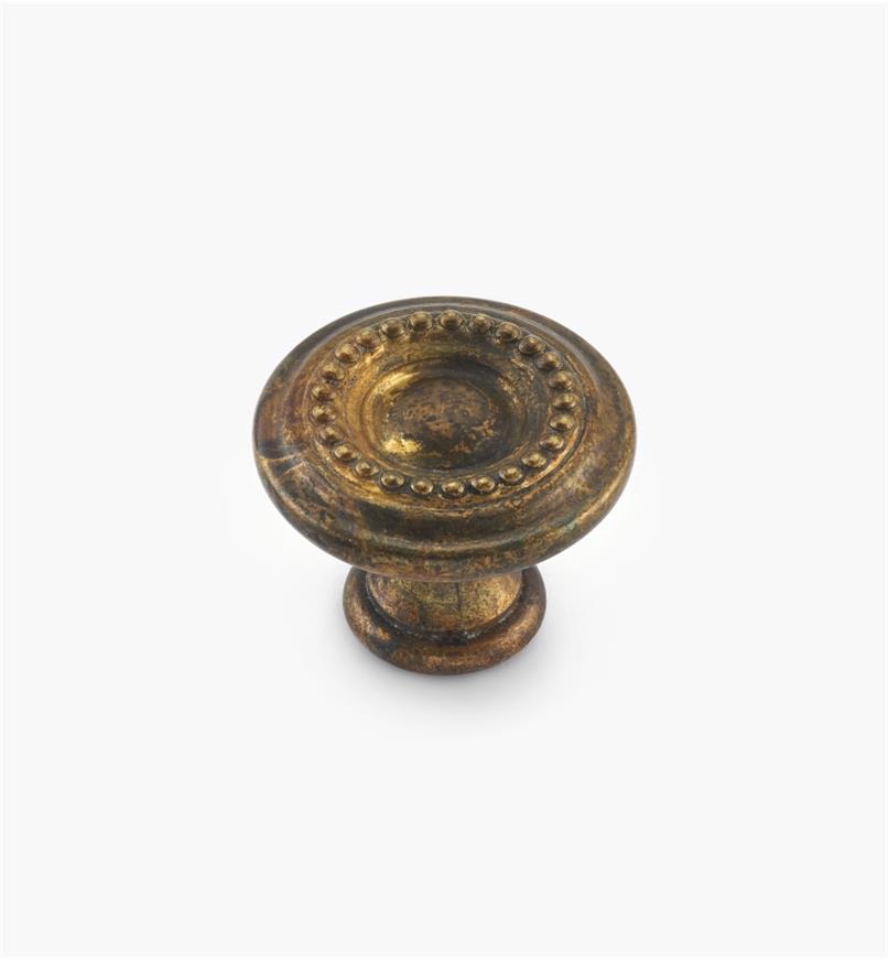 01A0820 - 25mm x 21mm OBLouis XVI Pearled Knob