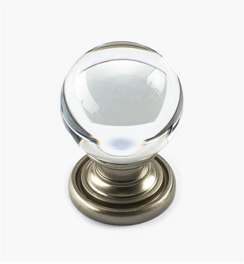 01A3837 - Smooth Glass Globe Knob, 29mm