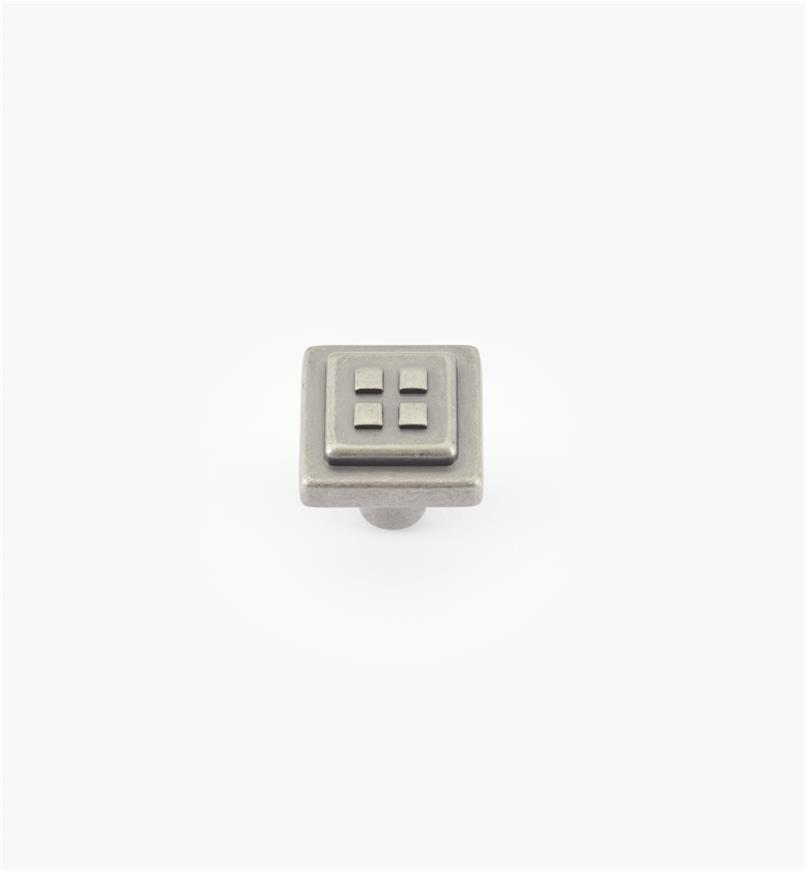 "02A0962 - 1 1/8"" x 1 1/8"" Weathered Nickel Knob"